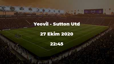 Yeovil - Sutton Utd